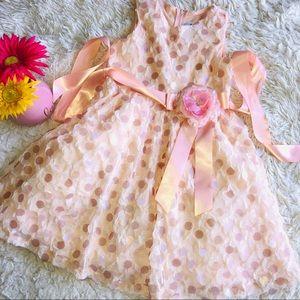 Girls Apricot Dress Size 6